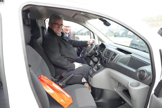 M. Frangeul dans son NV200